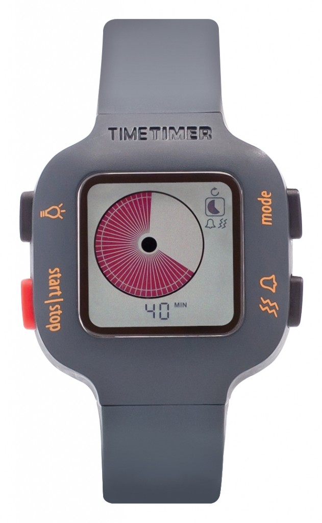 Time Timer watch youth grey orange