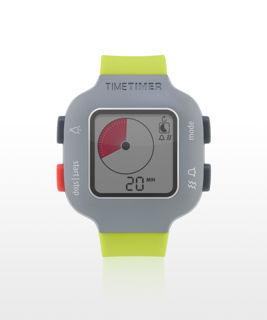 Time Timer watch Plus - youth - limegreen - Timer 20 min.