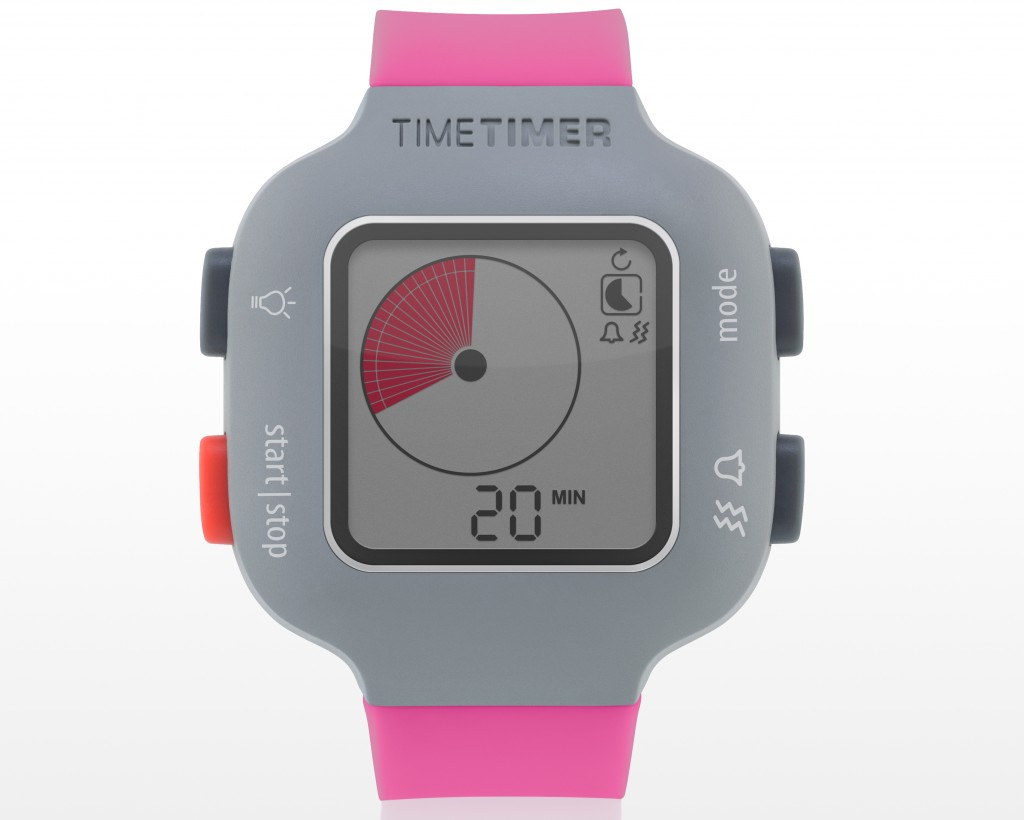 Time Timer watch Plus - youth - berry - Timer 20 min.
